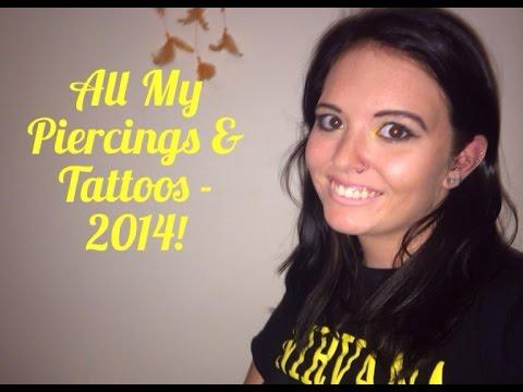 All My Tattoos & Piercings! �
