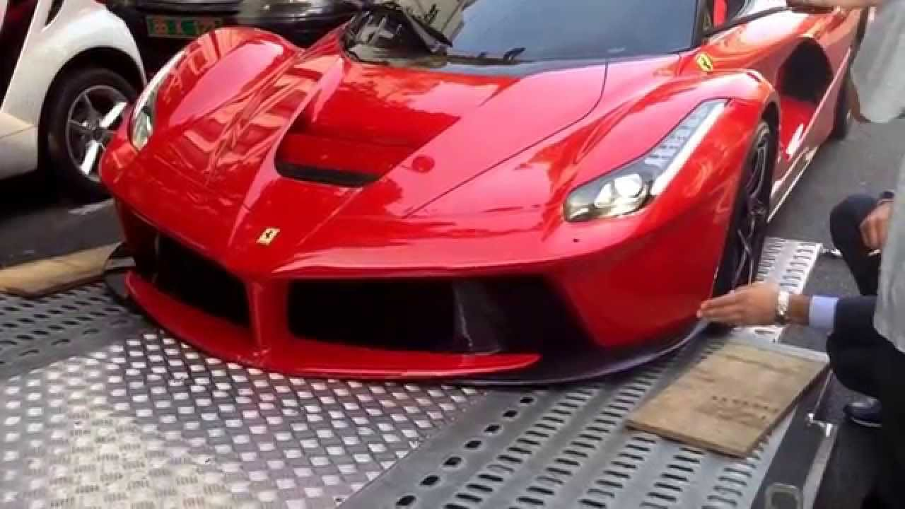Ferrari Laferrari Getting Damaged While Being Loaded On A