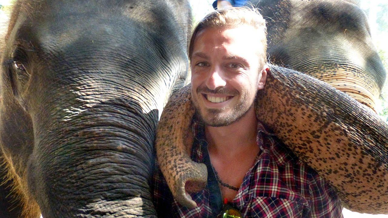 Friendly Elephants Give Huge Hugs To Tourists - Youtube-1003