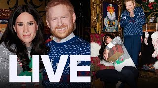 Harry and Meghan 'Terrifying' Live Wax Figures | ET CANADA LIVE