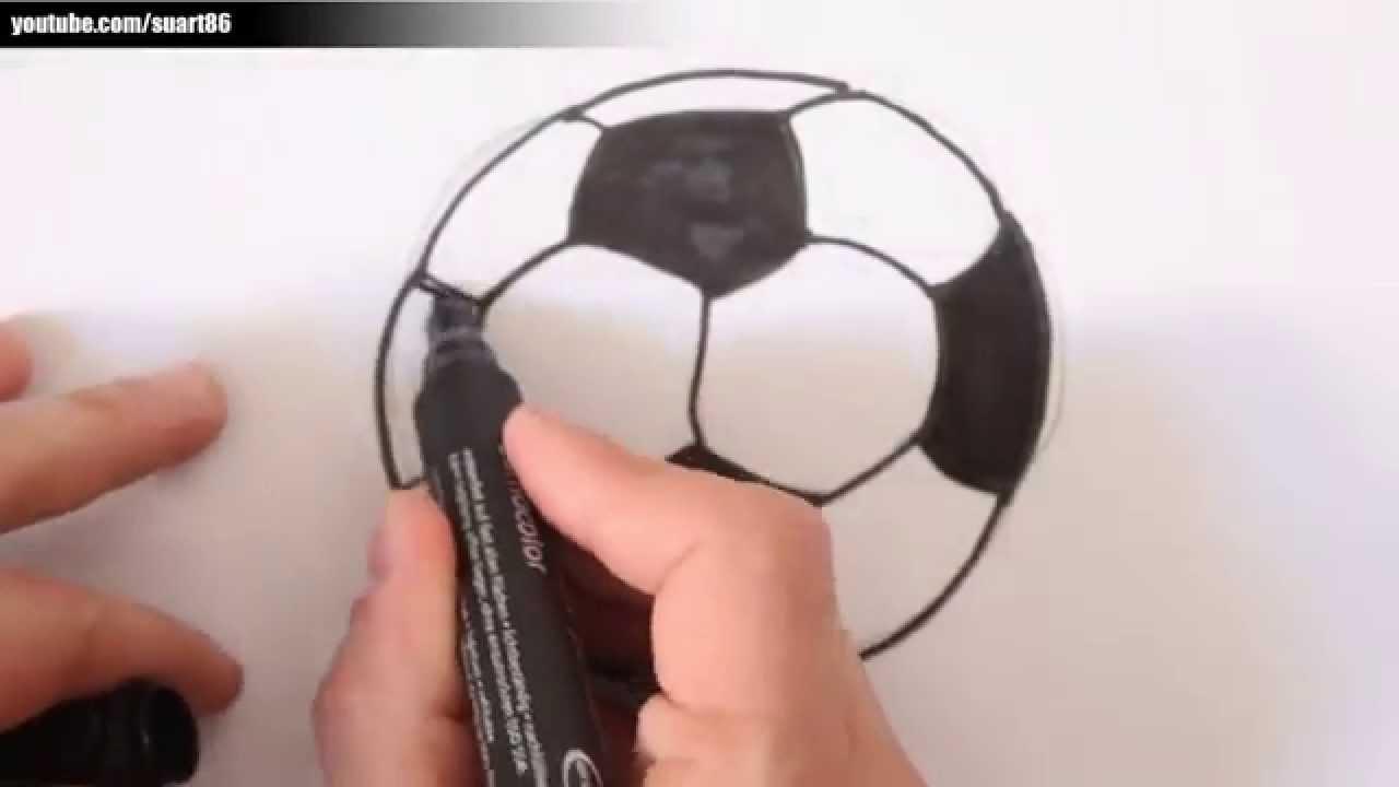 Como dibujar una pelota de futbol  YouTube