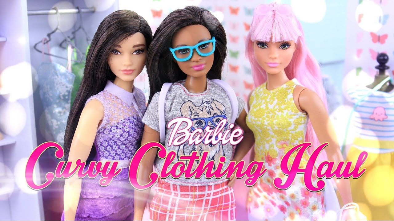 unbox daily barbie curvy clothing haul  accessories