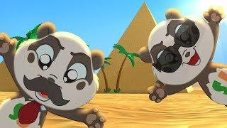 Agente secreto Panda Bo viajar por todo el Mundo y aprender de los Países - Divertida Animación para los Niños