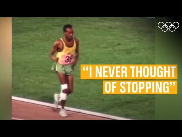 The ultimate display of determination! Ft. John Akhwari