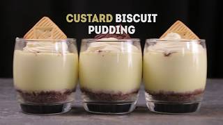 Custard Cream Biscuit Pudding