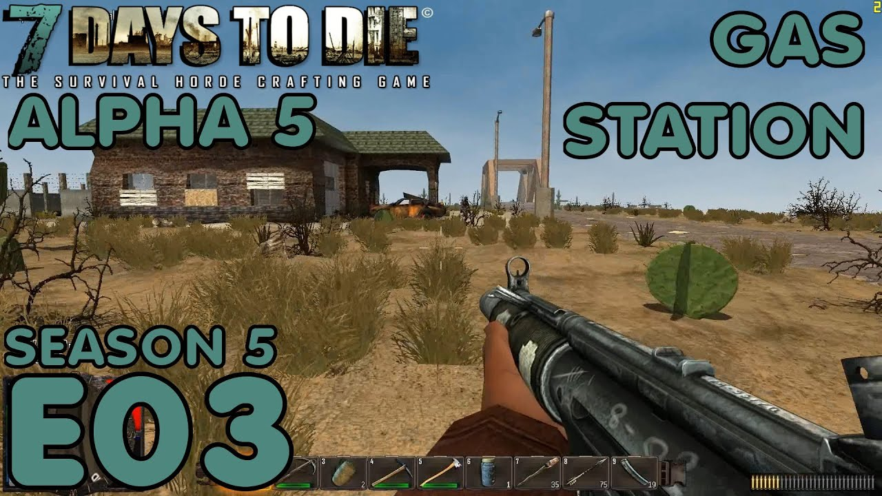 7 days to die let's play (alpha 5/s-5) -e05 crafting the auger.