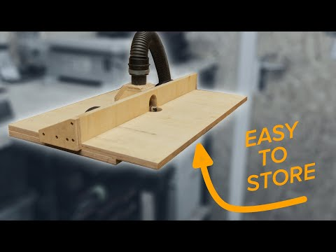 How to make a router table that fits in a small workshop