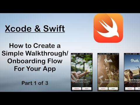 Swift Tutorials : How To add a Walkthrough/Welcome Screen Flow to your Swift Project (Part 1 of 3)