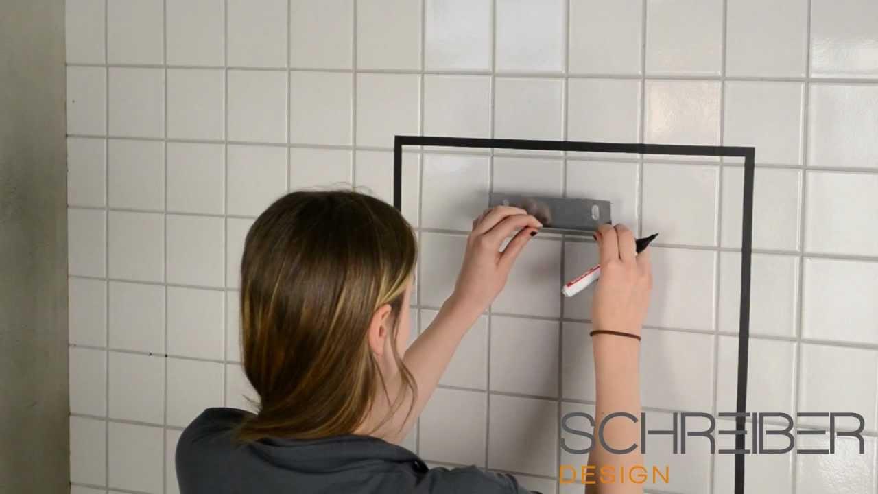 Spiegel Schräg Aufhängen spiegelmontage bohren schreiber spiegel 20 30 mm