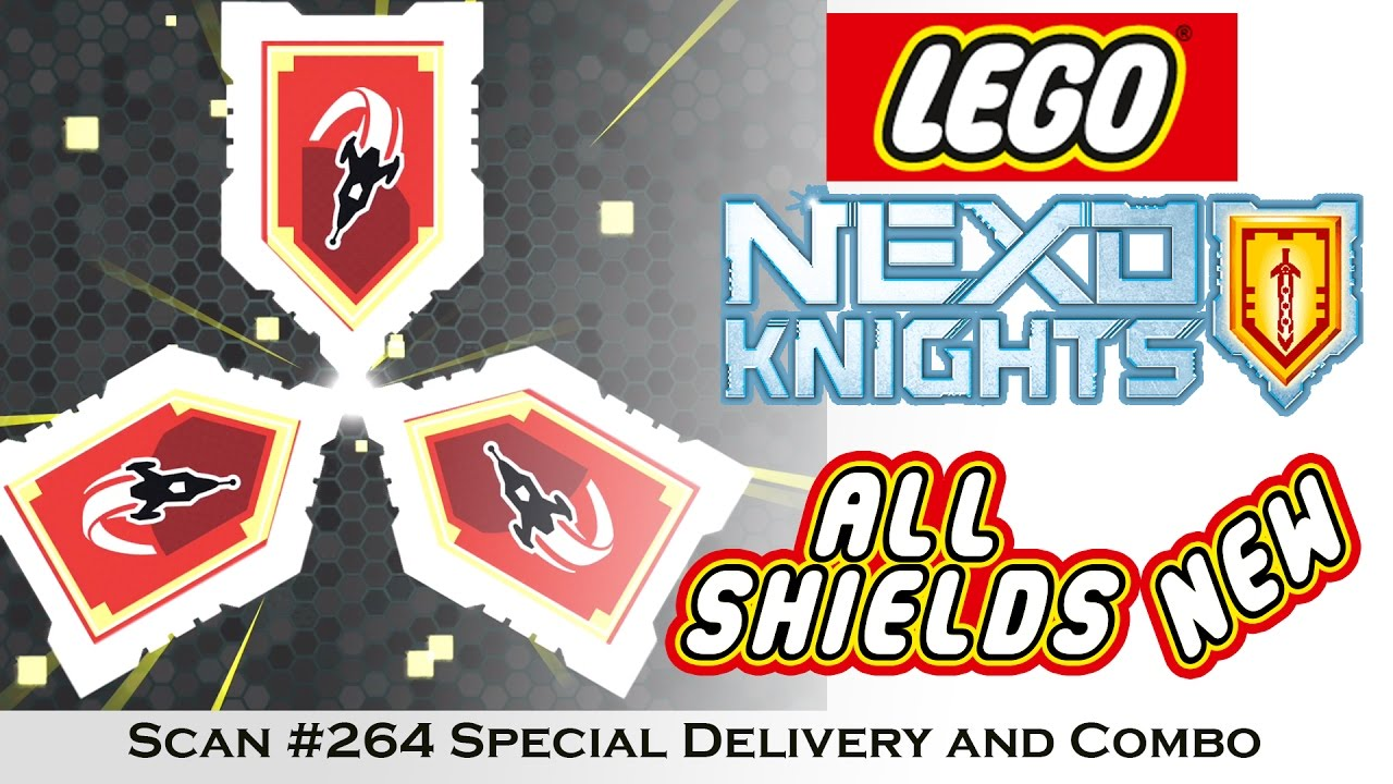 Red Nexo Knights Power Shields