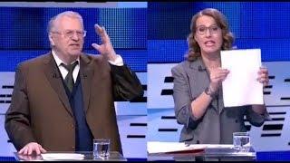 Жириновский и Собчак. Дебаты на Первом 12.03.2018