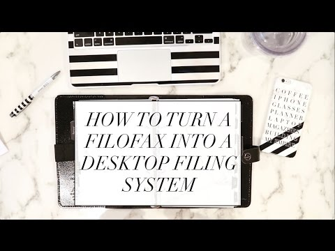 How to Turn a Filofax into a Desktop Filing System | 43 Folders Black & White Marble Planner Setup!