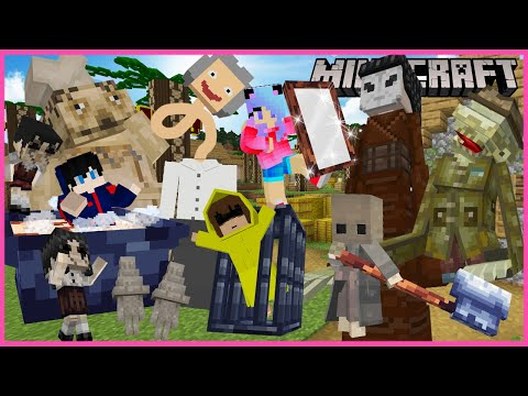 Minecraft มายคราฟ ตอน เมื่อเหล่า little nightmares บุกหมู่บ้านมายคราฟ