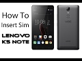 How to Insert sim card in Lenovo K5 Note (Hindi)