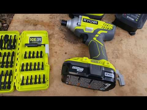 Ryobi impact driver 1500in pounds not ft pounds...and drill with torque settings