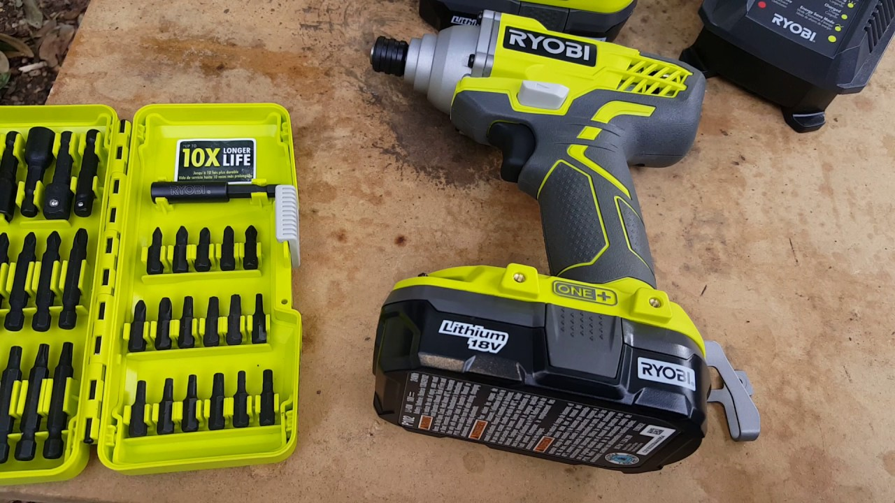 Ryobi impact driver 1500in pounds not ft pounds   and drill with torque  settings