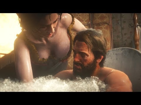 Arthur Having a Deluxe Bath - Red Dead Redemption 2