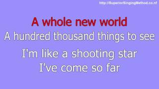 Disney Karaoke Aladdin - A Whole New World (Lyrics and Instrumental)