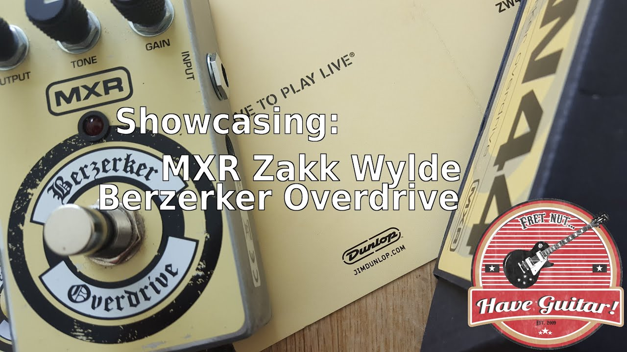 MXR Zakk Wylde Berzerker Overdrive ZW44