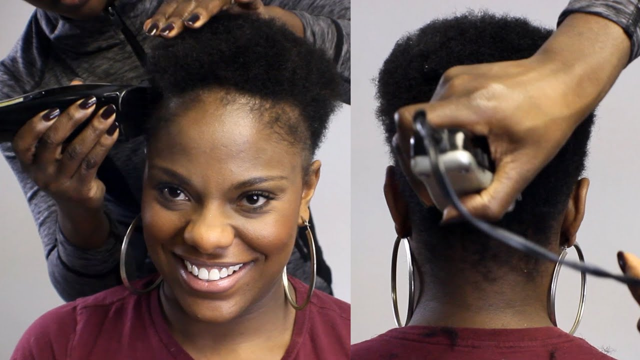 Watch Me Taper Cut Her Natural Hair Beautycutright Youtube