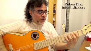Basic harmony of modern flamenco 1/ Guitar lesson by Ruben Diaz (Paco de Lucia´s Style)