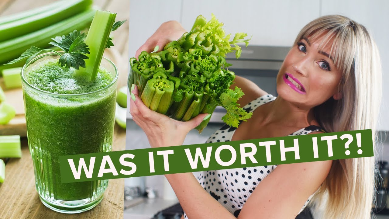 I tried drinking CELERY JUICE for 10 days and THIS is what happened