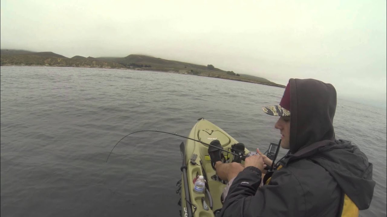 Kayak fishing the central coast mdo youtube for Fishing without a license california