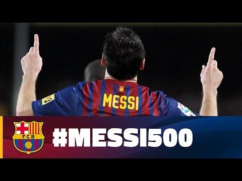 Luego de llegar a los 500 goles, el Barcelona le dedicó un emotivo video a Lionel Messi