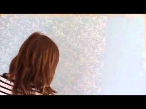 Desenli Rulo Fırça Ile Boya Nasıl Yapılır Youtube