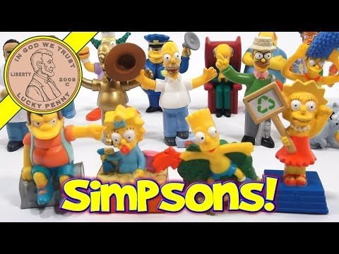 Simpsons Movie Figures 2007 Set, Burger King Kids Meal Toys