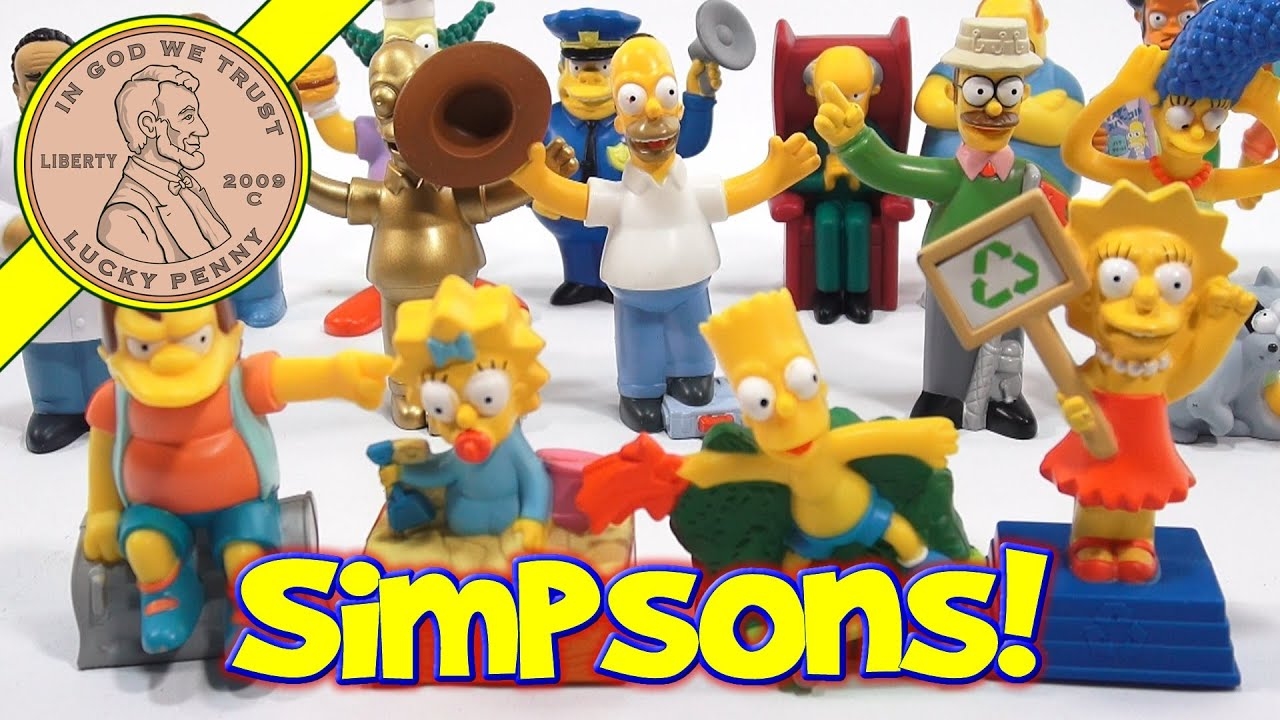 Simpsons Movie Figures 2007 Set Burger King Kids Meal Toys Youtube