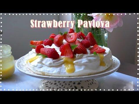 🍓바삭쫀득 딸기 파블로바!🍓