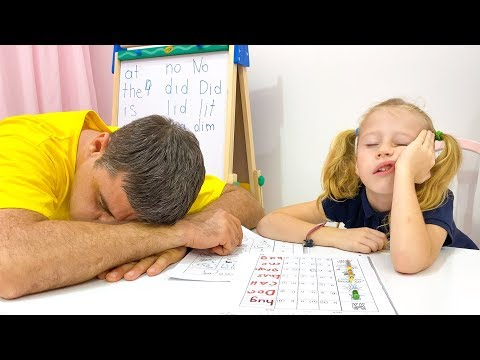 Stacy and dad show how important it is to study well at school