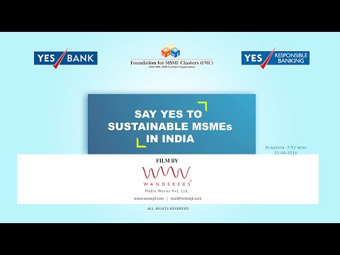 SAY YES TO SUSTAINABLE MSMEs IN INDIA - Shorter Version