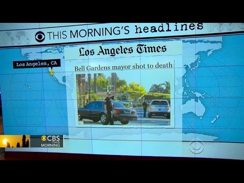 Headlines at 7:30: Mayor of Southern California city alledgedly shot to death by wife