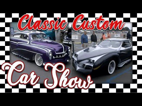 Classic Custom Car Show Muscle Car Auto Racing