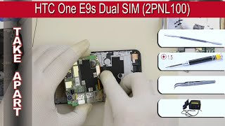 How to disassemble 📱 HTC One E9 2PNL100 (E9s, E9w, E9x, E9sw) Take apart Tutorial