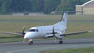 Budapest Air Service Embraer 120 Brasilia landing at Graz Airport   HA-FAI