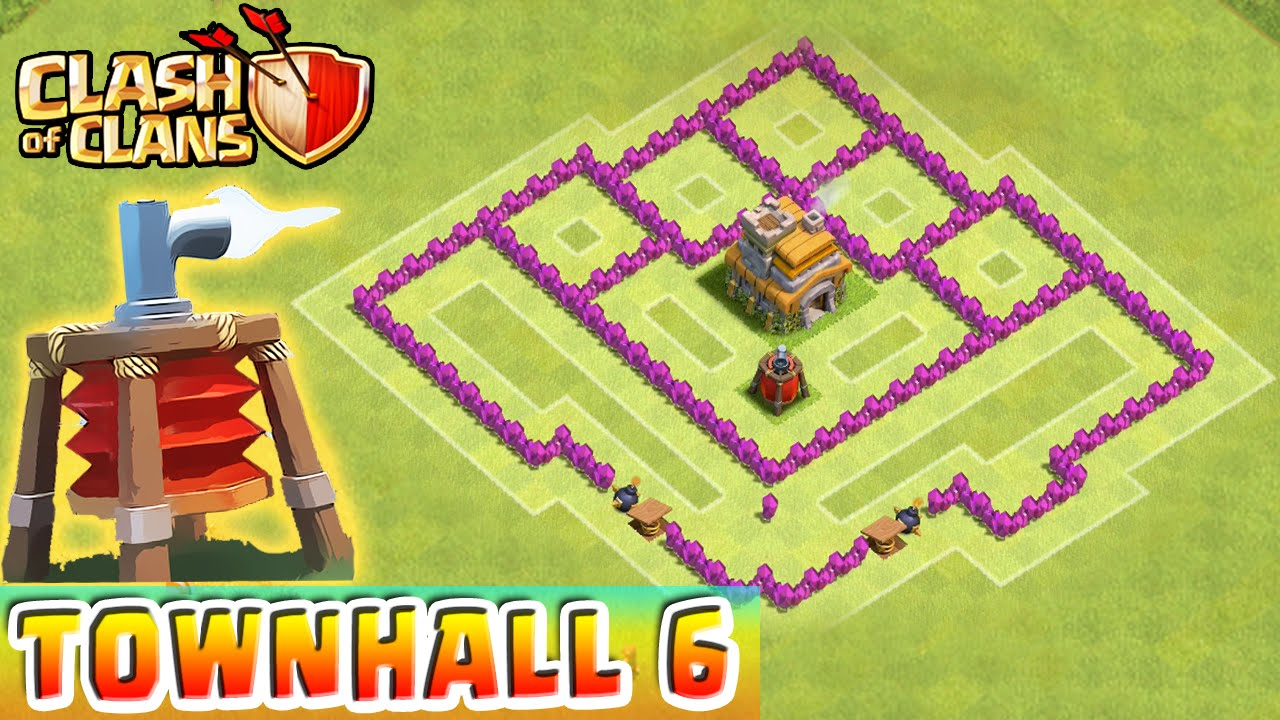 Clash of clans air sweeper defense strategy townhall level 6