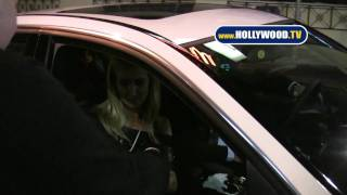 Lady Victoria Hervey Leaves The Roosevelt