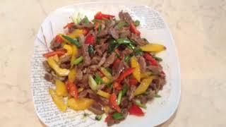 Салат из куриных желудков в китайском стиле