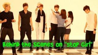 "Behind the Scenes footage of U-Kiss during the filming of ""Stop Gir..."