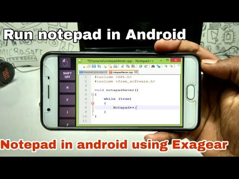Run PC Notepad In Android Phone Using Exagear Strategies