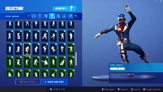 ALPINE ACE (USA) SKIN SHOWCASE WITH ALL FORTNITE DANCES & EMOTES