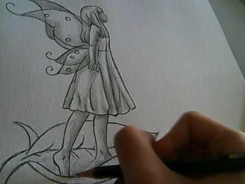 Dessin Petite Fee Au Crayon Youtube