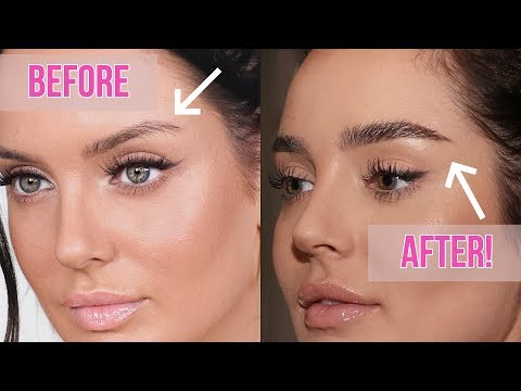 How I Grew Out My Eyebrows + NEW Fluffy Brow Routine! \\ Chloe Morello