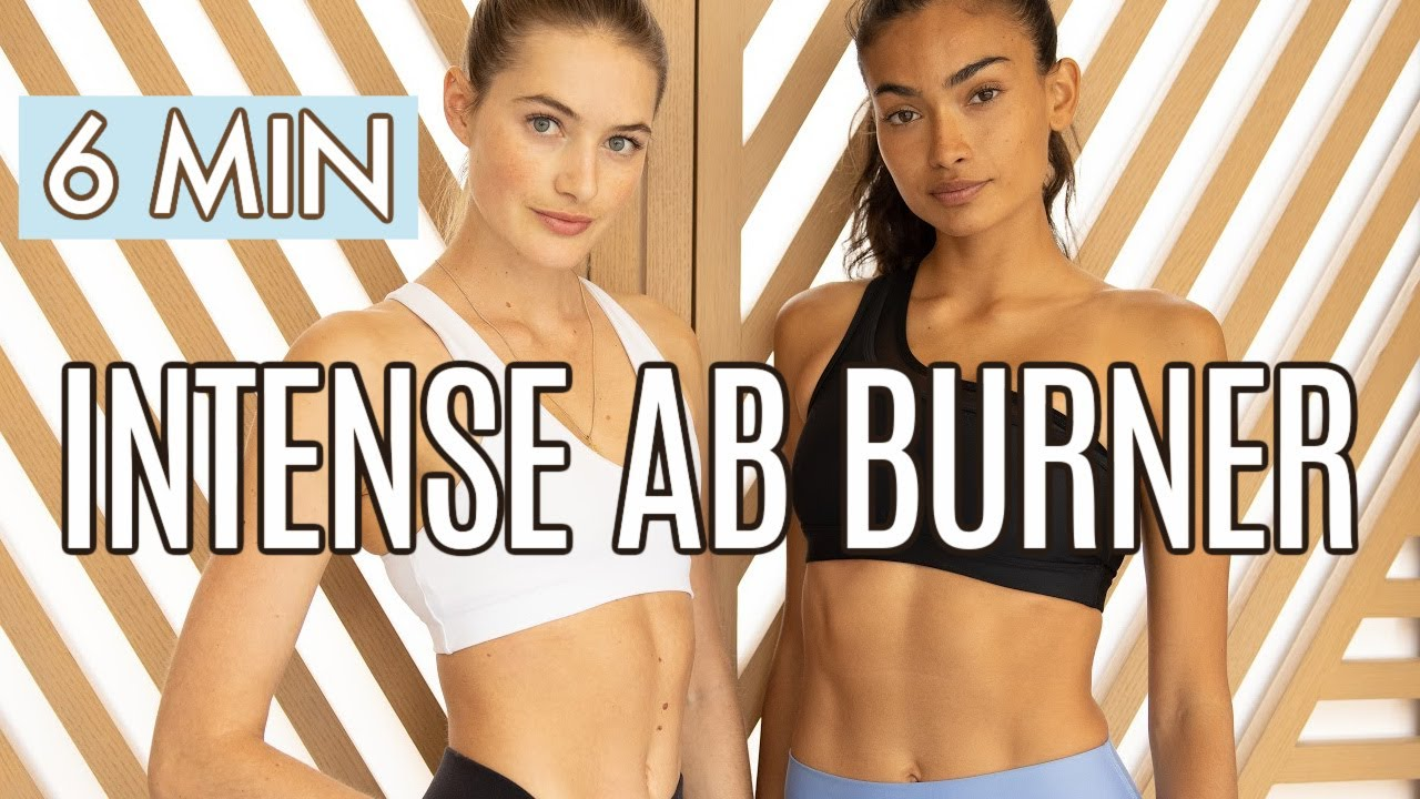 6 MIN AB BURNER Model Workout | Tighten your core and slim your waist with Kelly Gale