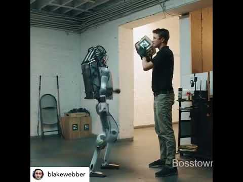 Robot attacks two scientist! It is a massive threat! (Blake Webber voice  over)