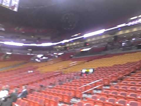 Entrance in the American Airlines Arena in Miami - YouTube