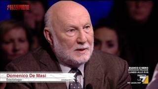 IL LAVORO DEL FUTURO - intervista al sociologo De Masi (La7 PiazzaPulita 09/02/2017)